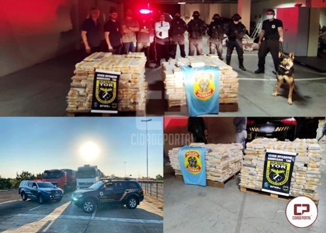Policiais realizam a maior apreensão de cocaína da história da Delegacia de Polícia Federal em Guaíra