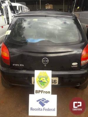 BPFron apreende dois veículos carregados com contrabando na BR-277