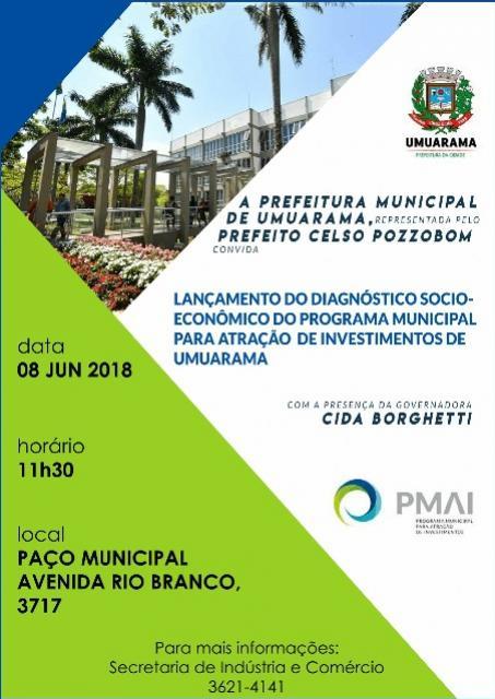 Governadora em Umuarama nesta sexta-feira às 11h30