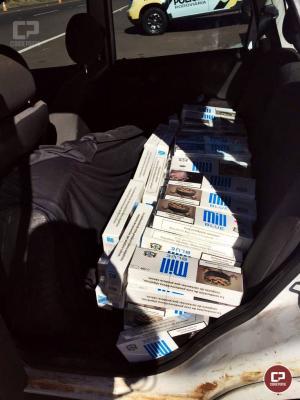 Posto Policial Rodoviário de Iporã apreende veículo carregado com cigarros contrabandeados
