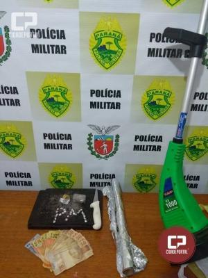 Equipe Rotam, com apoio do DPM de Ivaté, prende traficantes e apreendem drogas e munição