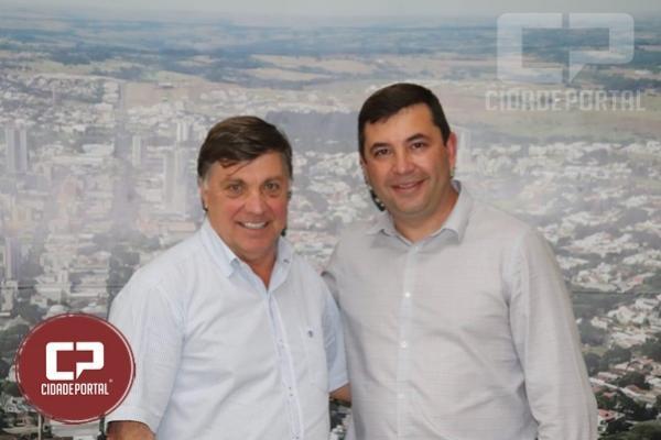Deputado Delegado Fernando Martins visita prefeito Celso Pozzobom em Umuarama