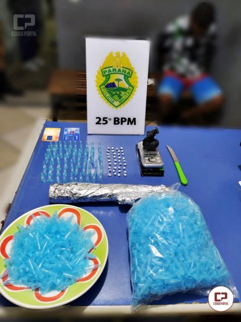 Polícia Militar apreende grande quantidade de drogas no Dom Pedro II