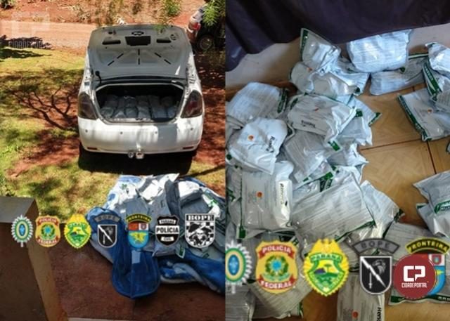 PF, BPFron e COE/BOPE estouram depósito de agrotóxicos e prendem uma pessoa em Guaíra