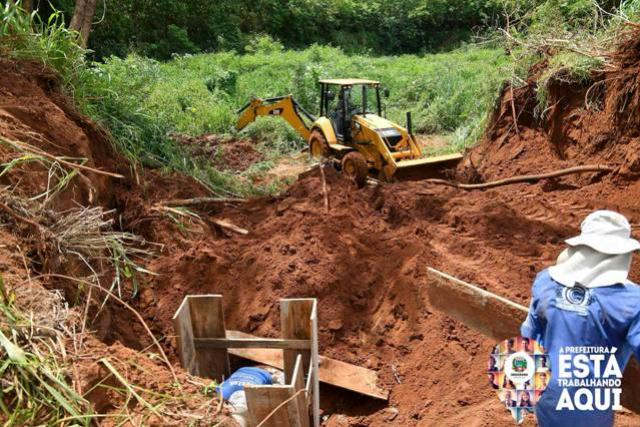 Prefeitura de Umuarama recupera galeria danificada pelas chuvas no Parque Industrial 3A