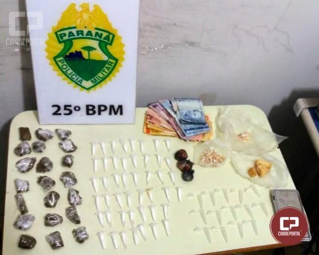 Equipe Rotam e RPA de Umuarama prendem traficante e dinheiro oriundos de tráfico