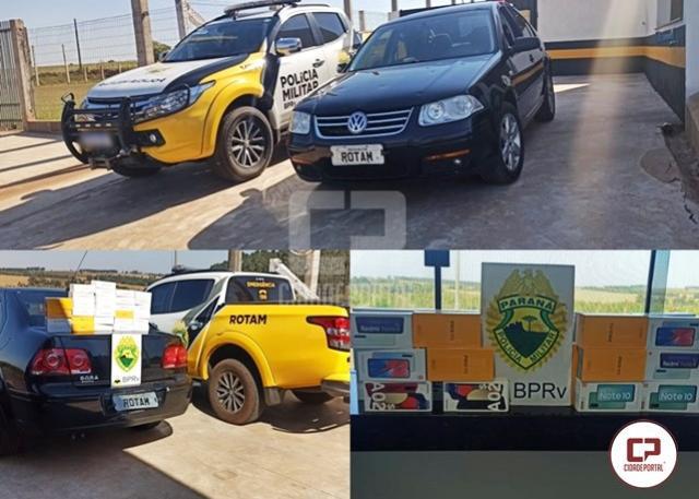 ROTAM de Cascavel apreende veículo transportando celulares de diversas marcas em Francisco Alves