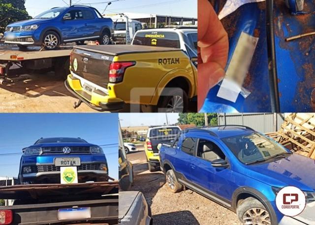 Após perseguição, Rotam recupera veículo furtado, em Iporã