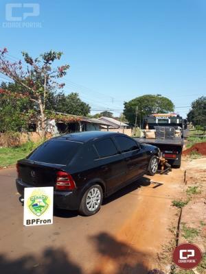 BPFron apreende veículo e contrabando na cidade de Guaíra