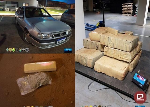 Uma pessoa foi presa e drogas foram apreendidas em Guaíra durante Operação Hórus