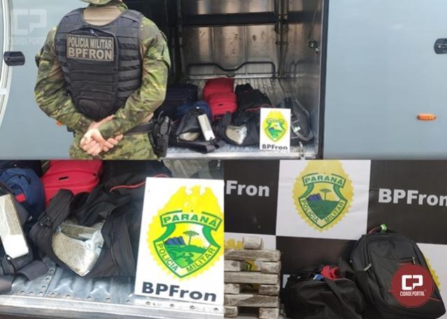 BPFron apreende adolescente transportando mais de 8 kg de maconha em ônibus de linha na cidade de Guaíra