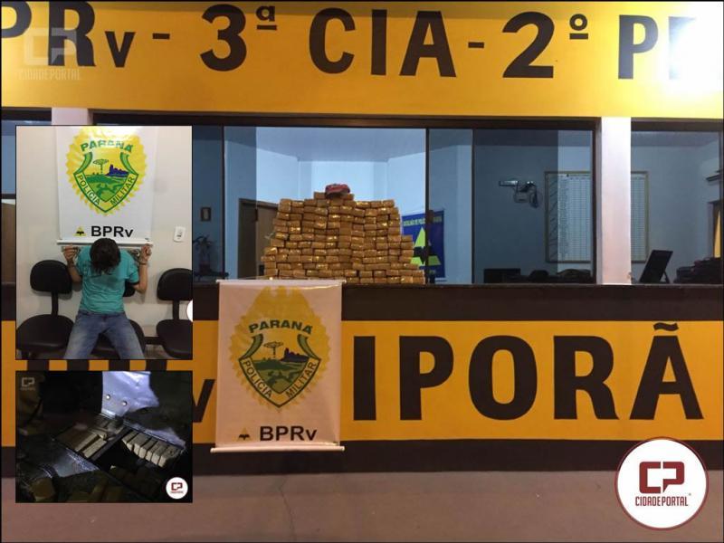 Polícia Rodoviária Estadual do Posto de Iporã apreende 135 tabletes de maconha somando 85 KG