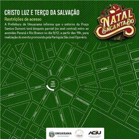 Prefeitura de Umuarama fará bloqueio parcial em rua para realização de evento nesta segunda, 09