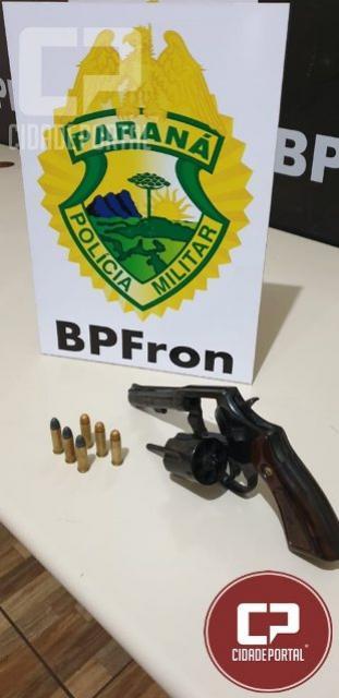 BPFRON apreende revólver e munições em Guaíra