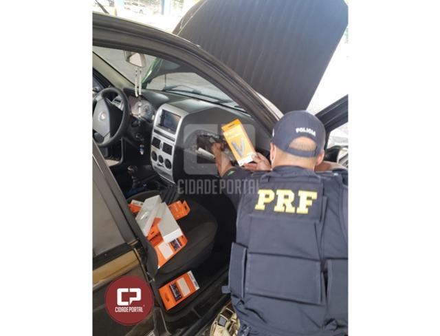 PRF apreende cerca de 50 mil reais em eletrônicos em Guaíra
