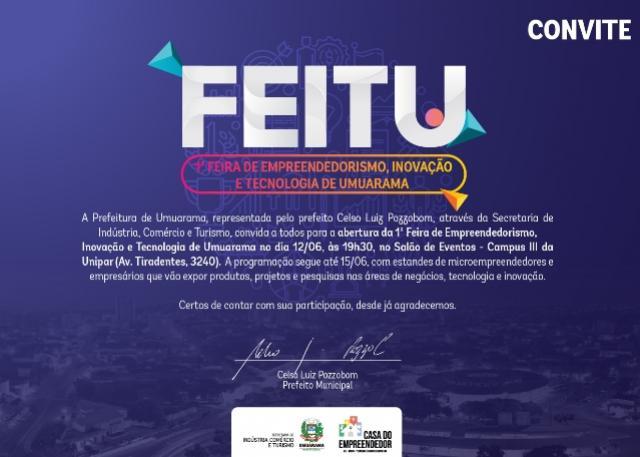 Aniversário de Umuarama terá 1ª Feira de Empreendedorismo, Inovação e Tecnologia