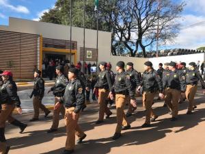 7º BPM realiza desfile Militar para Comemorar os 164 anos da Polícia Militar do Paraná