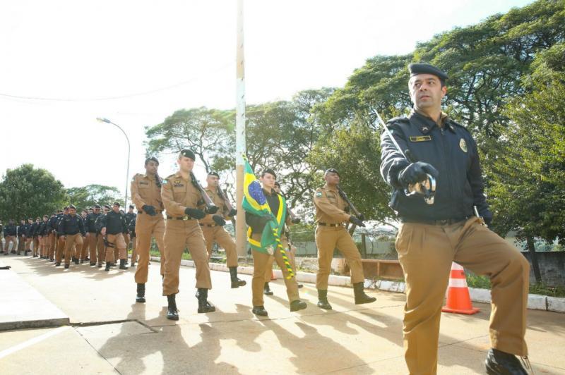 25º BPM de Umuarama realiza Formatura Militar em comemoração aos 164 anos da PMPR