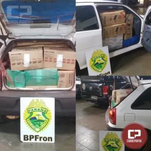 BPFron apreende veículo carregado com cigarros contrabandeados em Guaíra