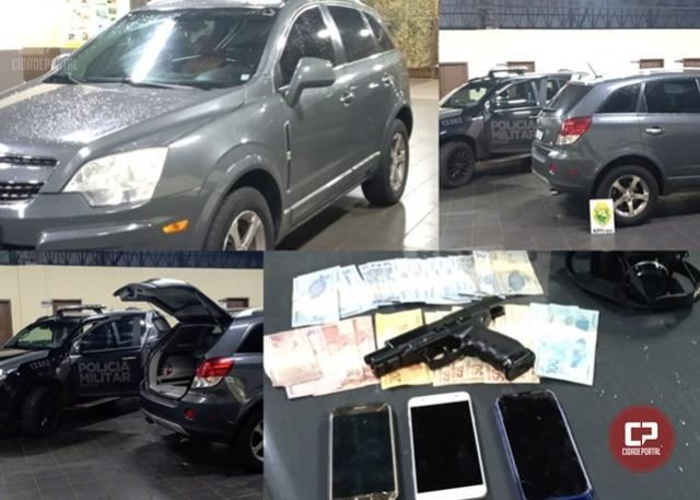 BPFron recupera, em Guaíra, veículo que foi roubado na cidade de Cascavel