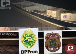 Três pessoas foram presas e cigarros contrabandeados são apreendidos em Operação Hórus