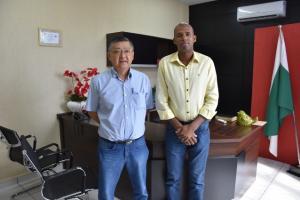 Presidência da Câmara Municipal recebe visita do gerente da Viação Umuarama
