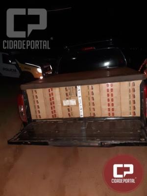 Polícia Militar realiza prisão de 3 indivíduos por contrabando de cigarros na PR 490