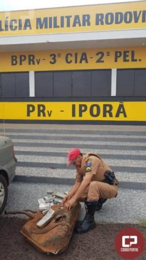 PRE apreende maconha escondida dentro de tanque de combustível em Cafezal do Sul