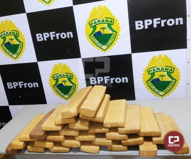 BPFron apreende 24 kg de maconha durante Operação Hórus em Guaíra