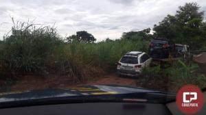 PRF encaminha dois veículos à Receita Federal de Guaíra durante ronda