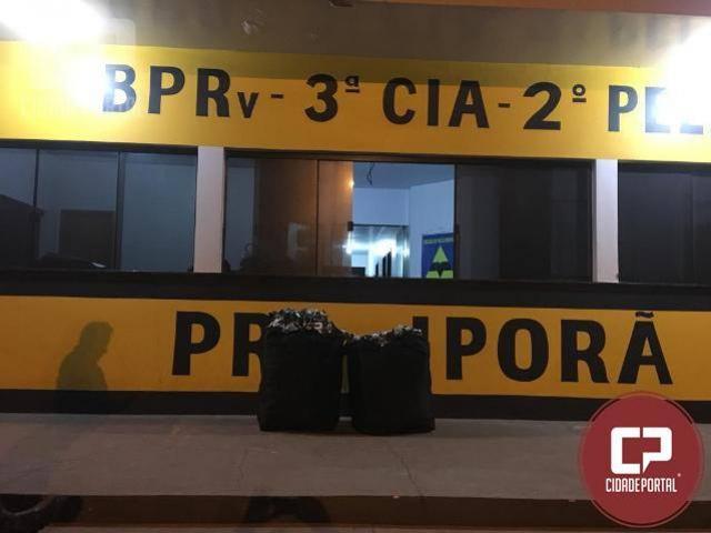 Posto policial rodoviário de Iporã apreende mercadoria contrabandeadas do Paraguai
