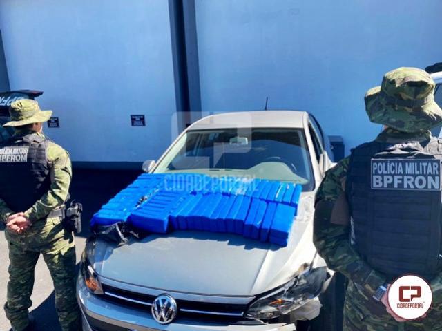 BPFron apreende veículo carregado com maconha durante Operação Hórus em Umuarama
