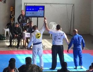 Policiais Militares do 25º BPM de destacam durante campeonato de JIU-JITSU em Guarapuava