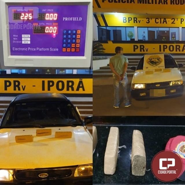 PRE de Iporã prende indivíduo e apreende veículo com entorpecentes