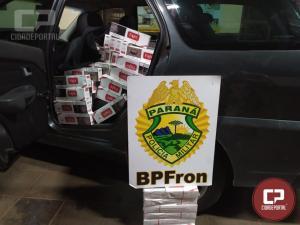 BPFRON apreende 2 veículos carregados com cigarros contrabandeados em Francisco Alves/PR