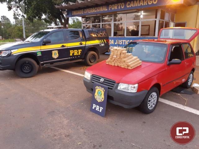 PRF prende casal com maconha escondida em carro no município de Alto Paraíso