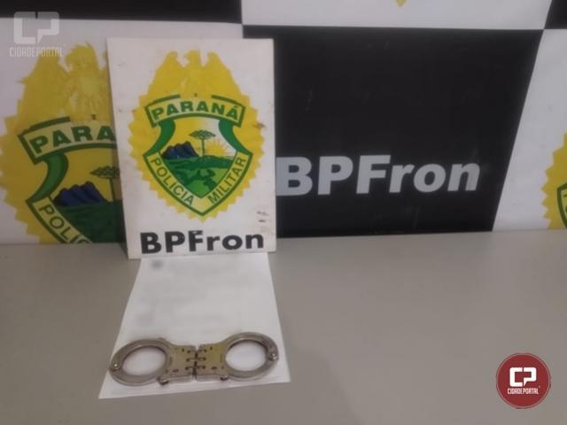 BPFron cumpre mandado de prisão em Guaíra na tarde desta terça-feira, 10