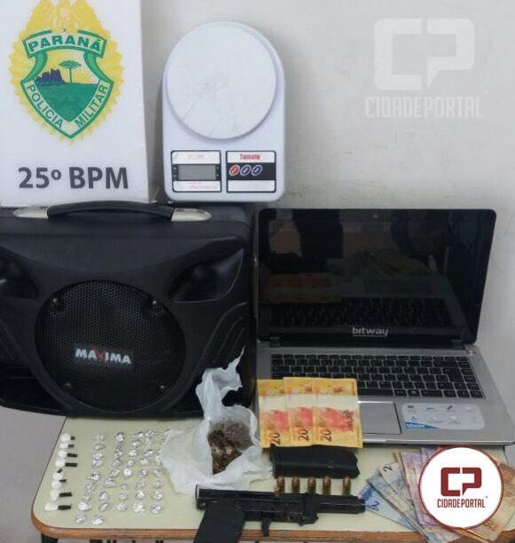 Equipes da RPA e CANIL de Umuarama realizam apreensões de drogas, armas, munições, objetos furtados e moeda falsa