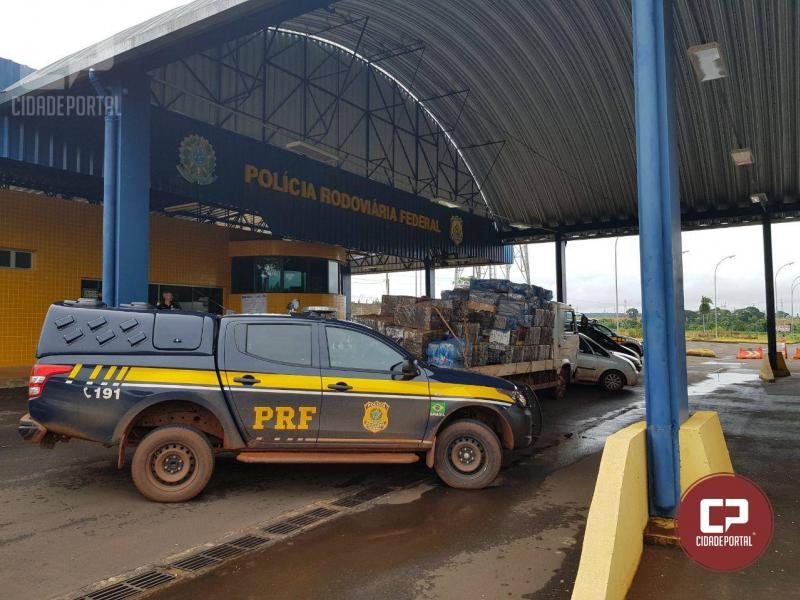 PRF estoura depósito de contrabandistas em aldeia indígena no Paraná