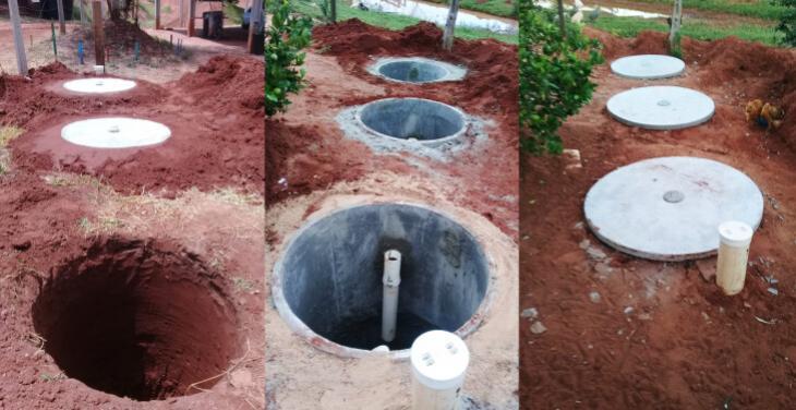 Com recursos do Fundo do Meio Ambiente Prefeitura implanta fossas sépticas na APA