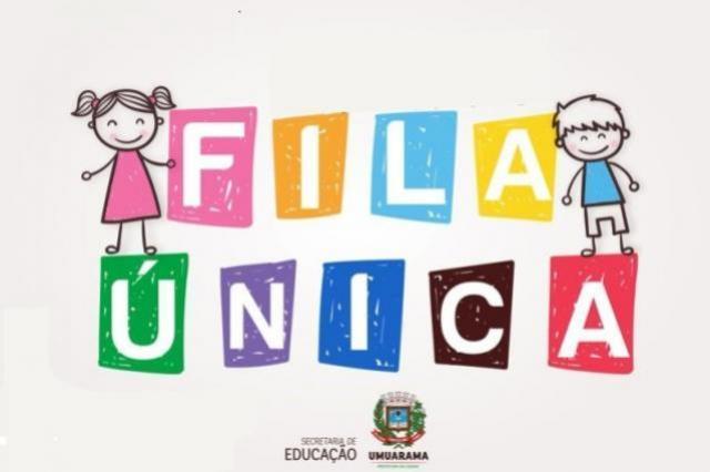 Educação realiza 14ª chamada com base no cadastro do Fila Única em Umuarama