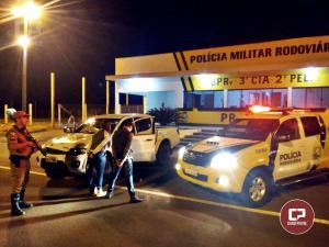 Polícia Rodoviária Estadual de Iporã recupera caminhonete roubada e prende duas pessoas