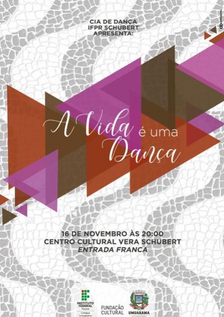 """Cia de Dança IFPR apresentará o espetáculo """"A vida é uma dança"""" no próximo sábado, 16"""