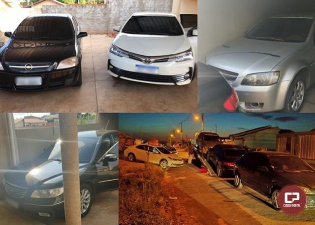 Policiais Militares atendem a denúncias e apreendem quatro veículos em Perobal
