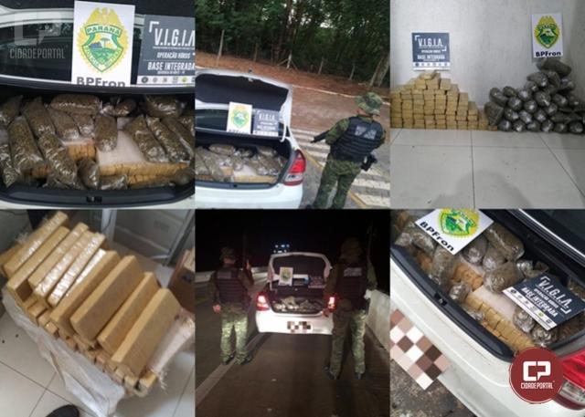 BPFron apreende veículo carregado com 14 kg de Skank e 60 kg de maconha em Alto Paraíso