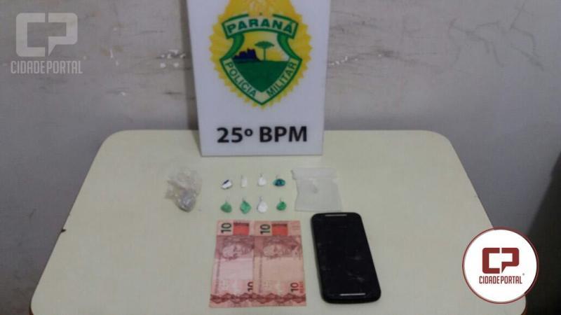Equipe da RPA de Umuarama em patrulhamento apreende drogas e prende uma pessoa