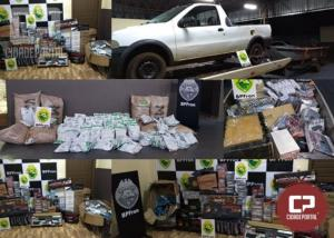BPFRON apreende diversos produtos oriundos de contrabando em Guaíra