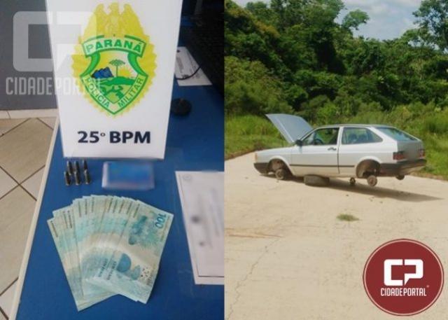 Polícia Militar recupera veículo que foi roubado neste sábado, 11 em Umuarama