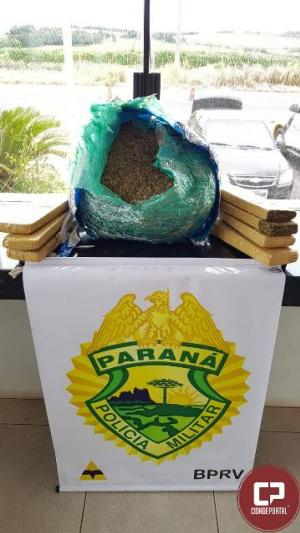 Posto Policial Rodoviário de Iporã apreende veículo transportando maconha