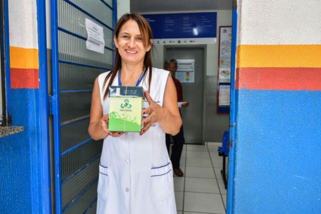 Postos de saúde de Umuarama recebem papa-pilha para estimular o descarte consciente